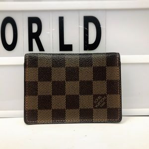 Louis Vuitton Damier Ebene bifold pass case holder